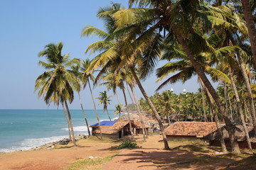 Fisherman's village on the Indian ocean coast