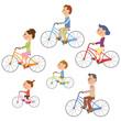 サイクリングする家族