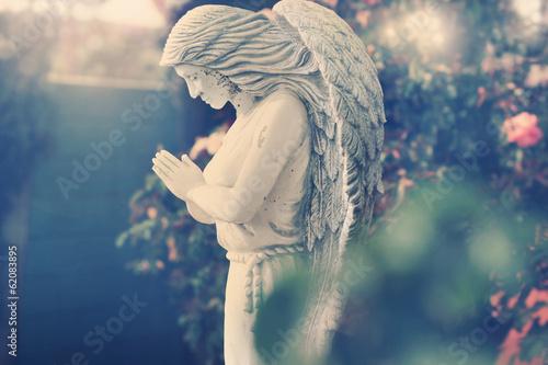 Spoed canvasdoek 2cm dik Standbeeld Angel statue