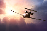 Private Jet PLane in the sky at sunset - 62084477