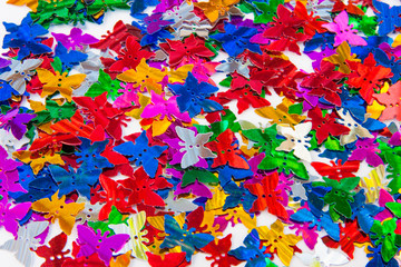 papillons paillettes décoration de table