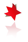 red star with bent corners