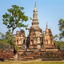 Temple Wat Mahathat, parc historique de Sukhothai, Thaïlande
