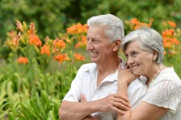 loving elder couple