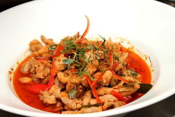 pork red curry
