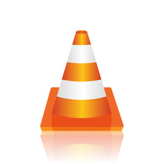 Traffic cone vector illustration