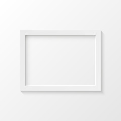 White picture frame vector illustration