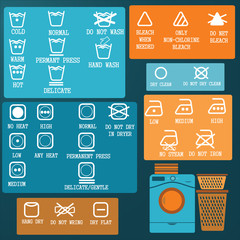 Laundry And Washing Icons set