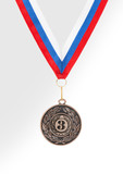 medal on the white background