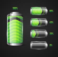 Vector illustration of Battery level indicator
