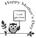 Monochrome I love you mum message