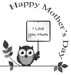 Monochrome I love you mum message