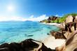beach Source d'Argent, la Digue island, Seychelles