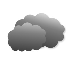 Dark clouds as weather icon