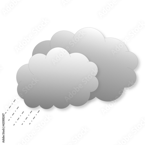 Clouds with rain as weather icon