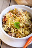 Rice and chicken casserole