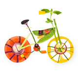 Fruity bicycle.