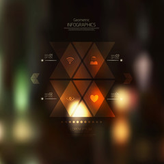 Retro abstract background. Geometric style-web and mobile interf