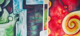 Muster abstrakt Gemälde Ölgemälde Kunstdruck - 62090298