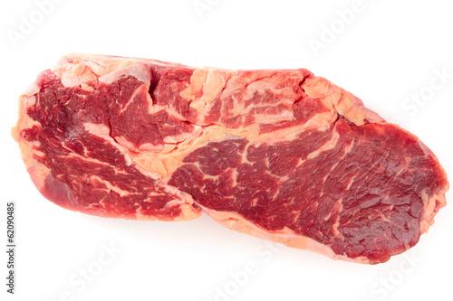 Ribeye steak isolated on white