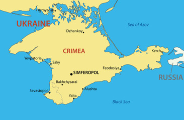 Autonomous Republic of Crimea - vector map