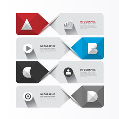 Modern Geometric Infographics Design template / banners /  graph