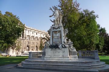 Sculpture of Wolfgang Amadeus Mozart in Vienna, Austria