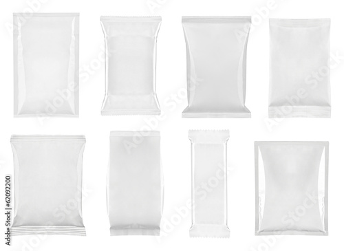 canvas print picture white package template bag food