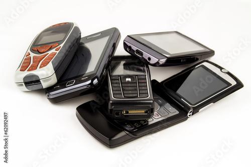 Leinwanddruck Bild Handy - Recycling