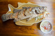 Fried snapper with chili thai sauce