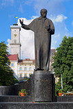 Monument of Taras Shevchenko in Lviv, Ukraine