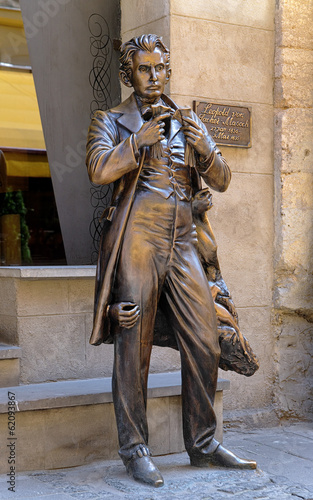 Monument of Leopold von Sacher-Masoch in Lviv, Ukraine
