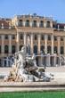 Sculpture in the Schonbrunn Palace in Vienna, Austria