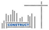 Construct title with ruler measures