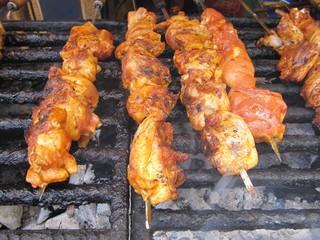 Pinchos de carne, skewers.