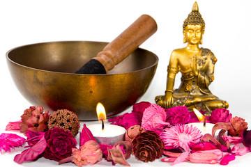 Tibetan bowl and Buddha