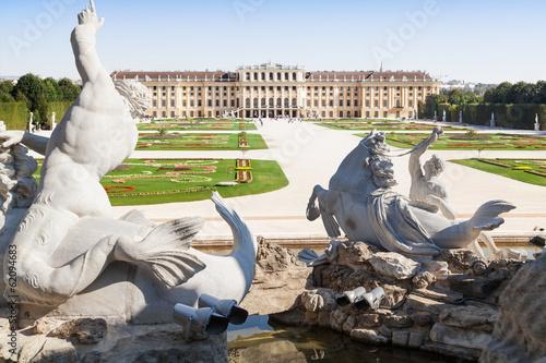 Neptune Fountain in Schonbrunn Palace, Vienna, Austria