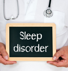 Sleep disorder - physician with chalkboard