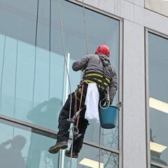 acrobate laveur de vitres