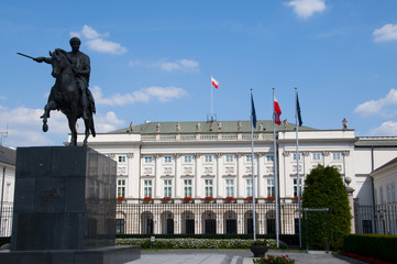 The Presidential Palace in Warsaw, Poland