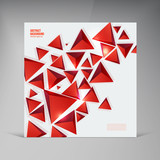 Vector triangle. Abstract background card and shadow