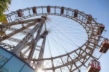 Ferris Wheel in Vienna, Austria.