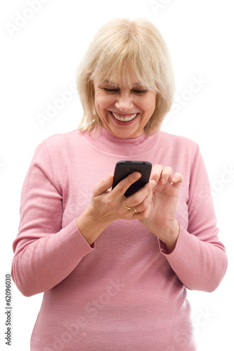 elderly woman and phone
