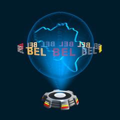 Icon Belgien Hologramm