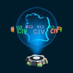 Icon Elfenbeinküste Hologramm
