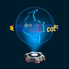 Icon Kolumbien Hologramm