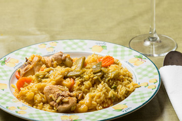 rice dish with rabbit
