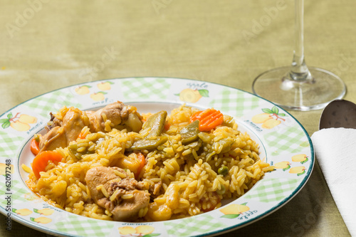 rice dish with rabbit