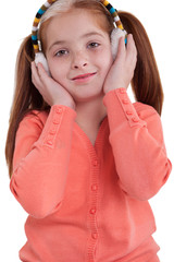 young girl with earflaps