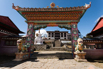 Gate of the Tengboche monastery
